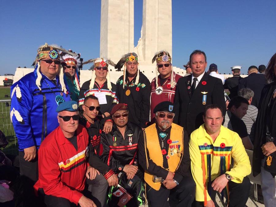 a group of Indigenous veterans