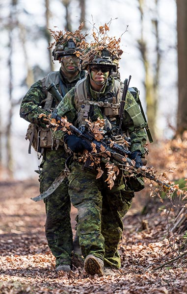 Members of 3rd Battalion, Princess Patricia's Canadian Light Infantry wear the Canadian Disruptive Pattern