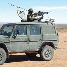The C6 medium machine gun can be mounted on a variety of vehicles.